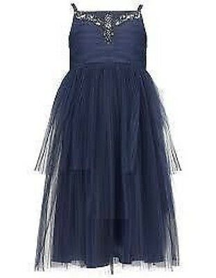 Monsoon Girls Dress Maiya Navy Blue  party bridesmaid wedding new childrens