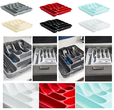 Plastic Kitchen Large 7Compartment Cutlery Tray Plate Rack Basin Tidy Organizer