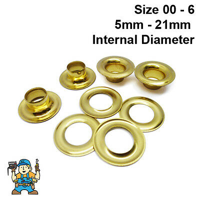 Solid Brass Eyelets & Washers Handy Pk (24 of each part) CS Osborne