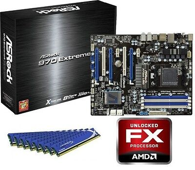 AMD FX-8320 Eight CORE CPU EXTREME 4 MOTHERBOARD 8GB DDR3 MEMORY RAM COMBO KIT
