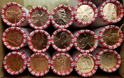 2009-P LP1 Lincoln Log Cabin 1 BU Heads/Tails cent roll 1st release  NF String