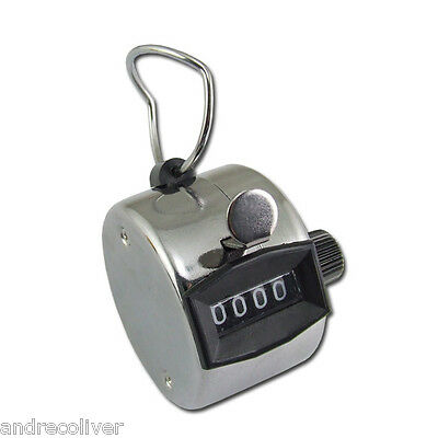 2x Tally Hand People Doorman Head Sport Lap Counter Clicker Stainless Steel AU