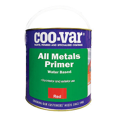Coo-Var All Metals Primer | Water Based | Several Sizes | Red or Grey