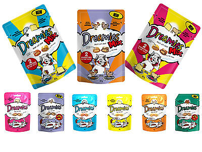 Dreamies Cat Adult Kitten Treats Food soft Crunchy Treats  Dry Snacks