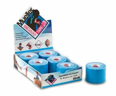 Mueller Kinesiology Sports K Tape 5cm x 5m BLUE TRIPLE Pack Muscle Fascia Pain