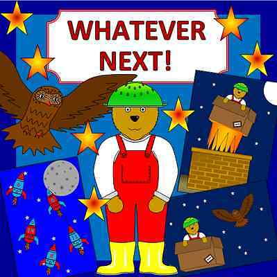 WHATEVER NEXT story teaching resources TO PRINT- Space, EYFS, KS1, Story Sack