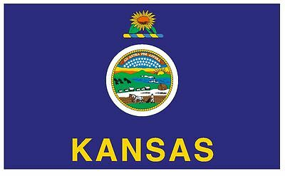 KANSAS Flag Sticker MADE IN THE USA F251 CHOOSE SIZE FROM DROPDOWN