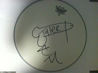 Tyler The Creator Odd Future Signed Autographed Drumhead Super Rare Dick Sketch