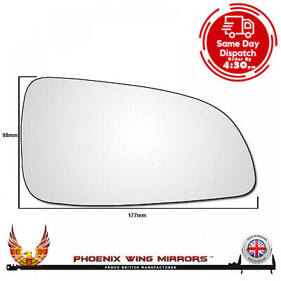 Right Hand Drivers Side Vauxhall Astra H MK5 2004-2009 Wing Door Mirror Glass