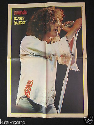 Roger Daltrey—1972 Fold-Out Poster—Sounds Magazine