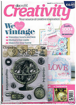 Docrafts creativity magazine January 2013 no. 37 +9 free chronology clear stamps