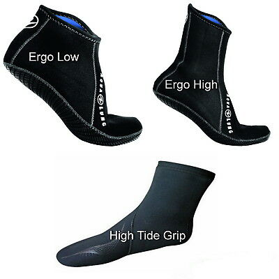 Aqualung Neopren Füssling ERGO Socken Low High Tide Socks Grip Neoprensocken 3mm