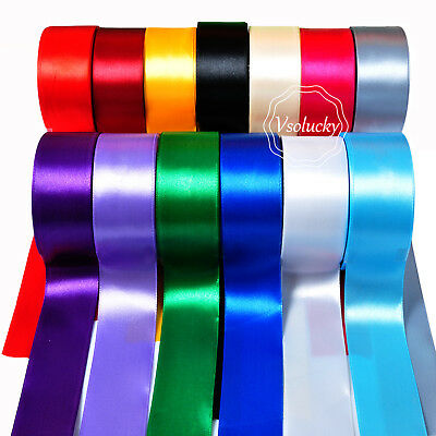 "25yd 1.5"" (38mm) Wide Satin Ribbon Roll Bow Wedding Party Favor Craft Decoration"