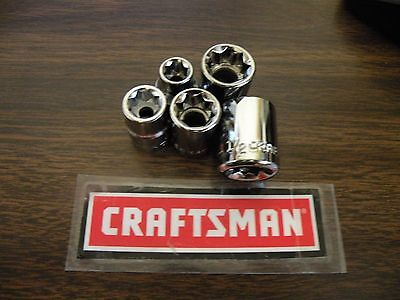 """New Craftsman 3/8"""" Dr 8 pt Point SAE Inch In - Star Socket - Any Size"""