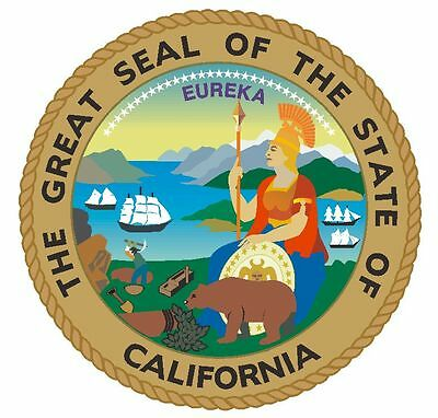State Seal of California Sticker USA MADE  R7 CHOOSE SIZE FROM DROPDOWN