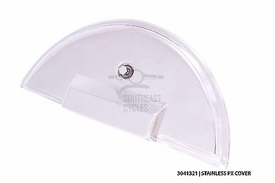 S.steel spare wheel cover + fixing bolt for Vespa PX T5 LML