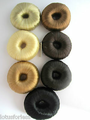 Thick synthetic artificial hair Scrunchie Bun Ring Donut Ballet Hair accessory