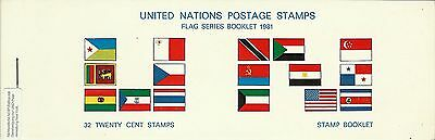 Nations Unies United Nations Drapeaux Usa Flags Fahnen ** 1981 Carnet 32 Val 50€