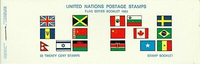 Nations Unies United Nations Drapeaux Chine China Flags Fahnen **1983 Carnet 50€