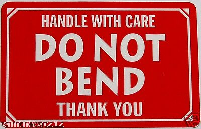 1000 2x3 DO NOT BEND Handle With Care Label Sticker FREE SHIPPING