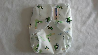 Motherease Rikki wrap aplix fastening Small LargeExtra large Wetlands Nappy wrap