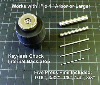 "Arbor Press Magnetic Pin Press 3/8"" Chuck Tool, APMT0.375 (was APMT2)"