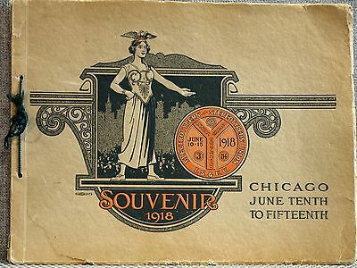 17th Annual Convention Stereotypers Electrotypers Union Chicago Souvenir 1918