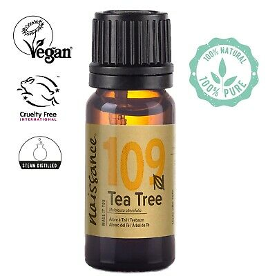 Naissance Tea Tree Essential Oil Use in Aromatherapy, Massage Blend & Diffusers