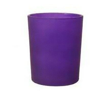 PURPLE FROSTED Glass Tealight Candle Holder Table Birthday Party BUY QTY Req