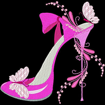 Fashionista Shoes - 30 Machine Embroidery Designs (Azeb)