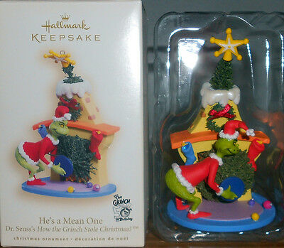 "*2007* Hallmark GRINCH Ornament ""He's A Mean One"" Dr. Seuss"