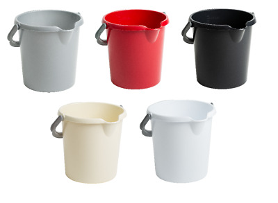 10L Plastic Bucket With Handle Home and Garden Cleaning Mixing Portable Camping