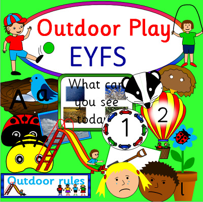 Outdoor Play teaching resource CD- revised EYFS -Childminder, School, Nursery