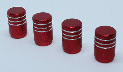 4x Valve Cap for BMW Aluminium Dust Caps for M Series Brand New Red Check