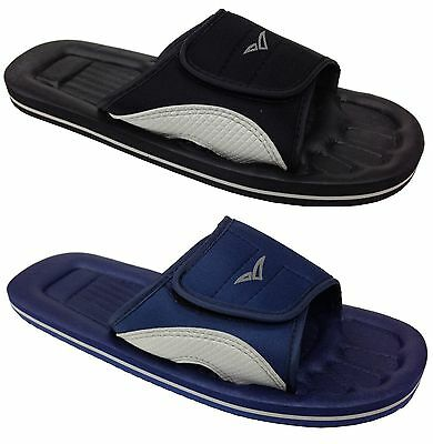 New Unisex Shower Mules Black Navy Blue Touch Casual Comfy Waterproof Everyday