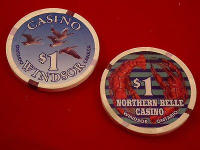 $1 Northern Belle Casino House Chip Windsor Ontario Canada $1.00 Blackjack