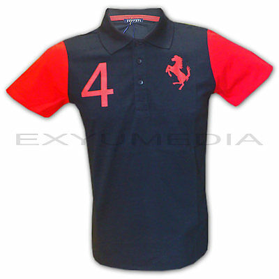 Ferrari original Polo Shirt für Teenager Kinder - Children T-Shirt black/red