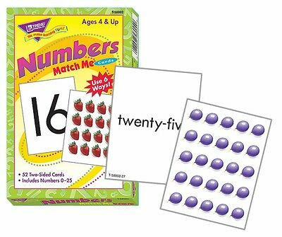 Numbers 0-25 Match Me Cards Numeracy Educational Game
