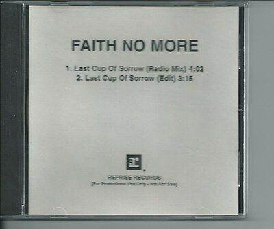 Faith No More Promo Cd Acetate Last Cup Of Sorrow 2 Versions 1995