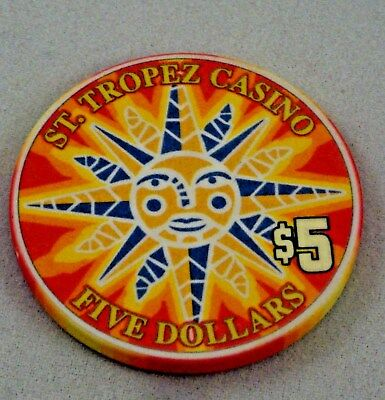 St. Tropez France $5 Casino House Chip - MINT - Extremely Rare - Blackjack Poker
