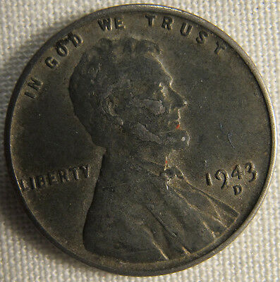 1943-D Lincoln Wheat Ears Steel Cent Penny **FREE SHIPPING** whotoldya