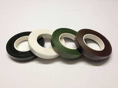 Florist Stem Tape, Wire Floral Work, Corsages Button Holes, White Or Green.
