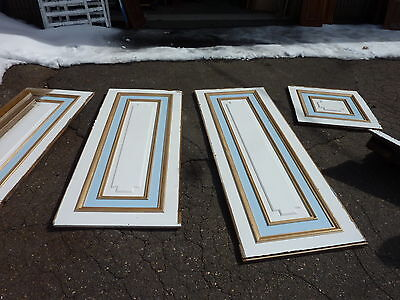 "circa 1902 painted pine WAINSCOT paneling raised panels 27/28"" x 27, 55, 61 & 72"