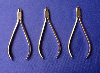 3 German T.C Distal End Cutter & Safely Hold Long Handle Orthodontic Instruments