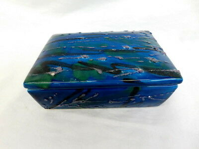 Raymor Italy Pottery Ceramic Covered Lid Trinket Box Lid Mid Century Modern