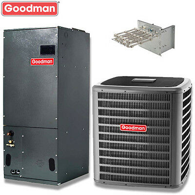 5 ton Goodman 15.5 seer R410A 2 stage central air system DSXC16060 / AVPTC60D14