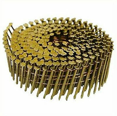2.5 X 57MM Coil Nails Flat Galvenised Ring Box of 9,000 16 Degree Diamond Point
