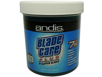 Andis Blade Care Plus For Clipper Blades Jar Cleaner Salon Barbers Groomers New