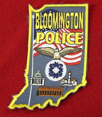 17164- Patch Bloomington Indiana  Police Department Sheriff Law Enfocement