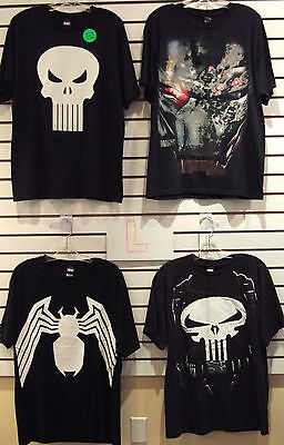 T-Shirt Lot Of 4 New Mens Large L Marvel Iron Man Spider-Man Punisher Venom